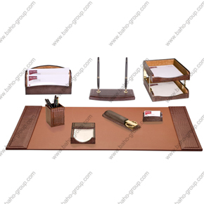 PU Leather Desktop Set