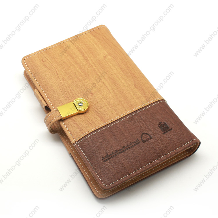 PU Leather Notebook with USB Flash Drive