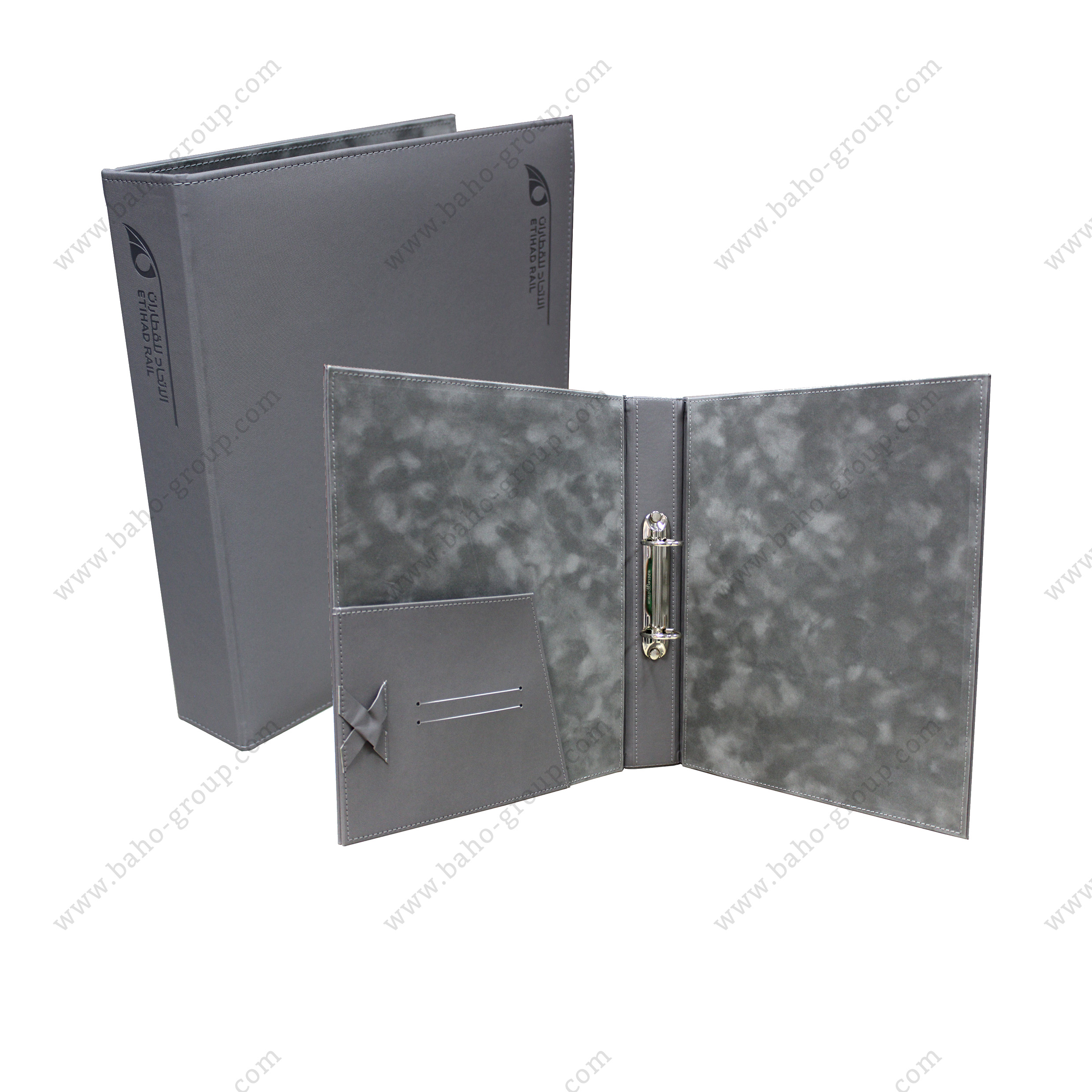 EtihadRail PU Leather Filing Folder