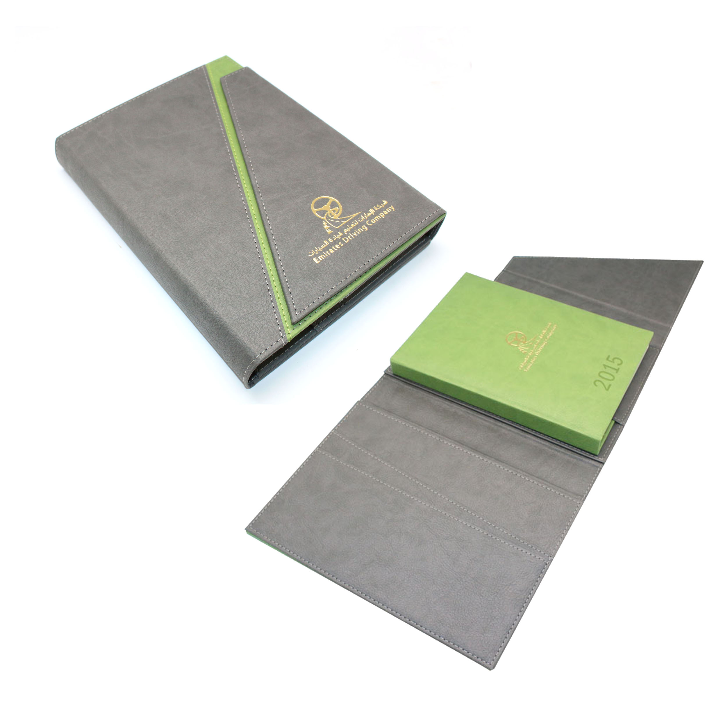 VIP Two-tone PU Leather Diary